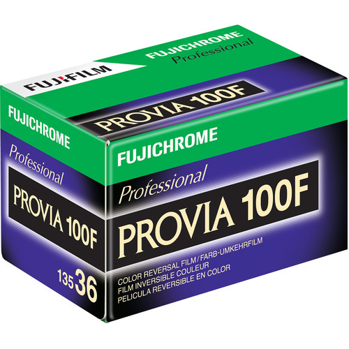 Fujifilm Fujichrome Provia 100F Professional RDP-III Color Transparency Film (35mm Roll Film, 36 Exposures, Short-Dated 05/18)