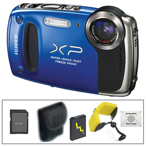 Fujifilm FinePix XP50 Digital Camera with Deluxe Accessory Kit (Blue)