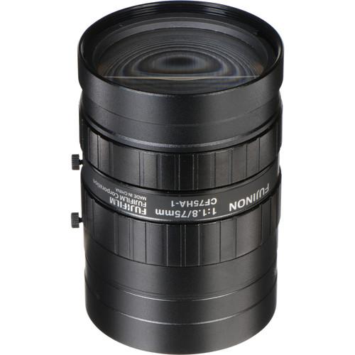 "Fujinon CF75HA-1 1"" 75mm Industrial Manual Lens for C-Mount Machine Vision Cameras"