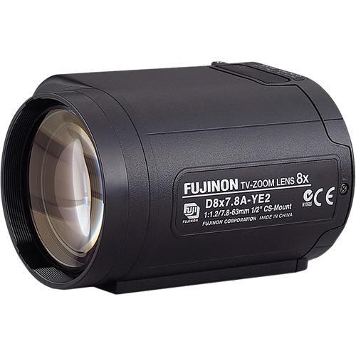 "Fujinon D8X7.8A-YE2 POTS 1/2"" 7.8-63mm (8x) F1.2 Motorized Zoom Lens w/Preset"