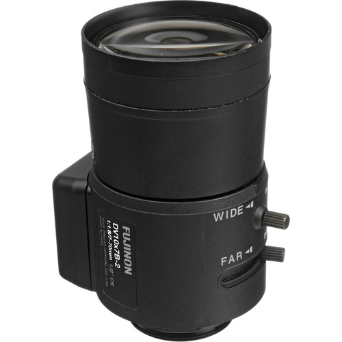 "Fujinon DV10x7B-2 1/2"" 7-70mm CS-Mount Vari-Focal Lens"