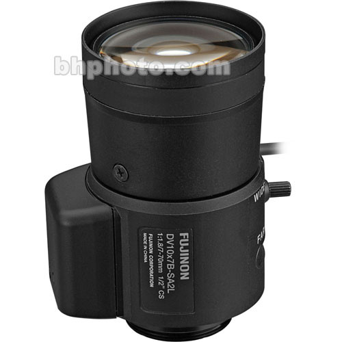 "Fujinon DV10x7B-SA2 1/2"" 7-70mm CS-Mount Vari-Focal Lens"