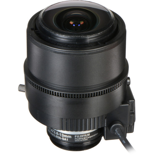 "Fujinon Varifocal Lens (3.8-13mm, 3.4x Zoom) w/Long Iris Cable (9.1""/230mm)"
