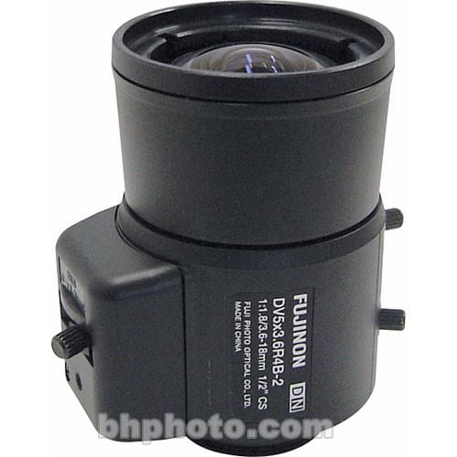 """Fujinon DV5x3.6R4B-2 1/2"""" 3.6-18 CS-Mount Vari-Focal Lens"""