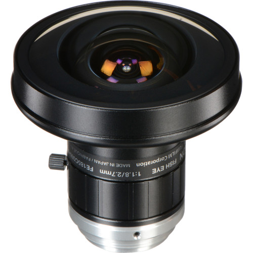 "Fujinon FE185C086HA-1 1"" C Mount 2.7mm f/1.8 5 Megapixel Manual Iris Fisheye Lens"