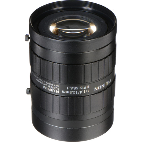 """Fujinon HF12.5SA-1 2/3"""" 12.5mm f/1.4 C-Mount Fixed Focal Lens for up to 5 Megapixel Cameras"""