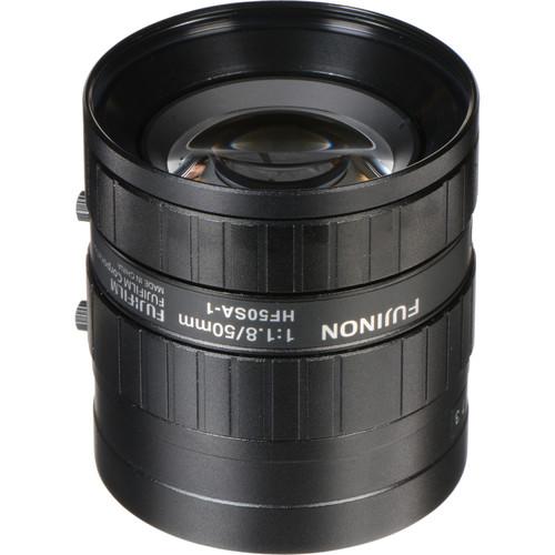 "Fujinon HF50SA-1 2/3"" C-Mount 50mm f/1.8 Manual Iris Lens for 5 Megapixel Camera"