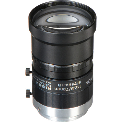 "Fujinon HF75HA-1B 75 mm F2.8 Fixed Focal C-Mount Lens for 2/3"" CCD"