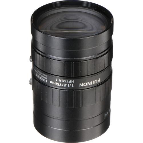 Fujinon HF75SA-1 75mm f/1.8 C-Mount Fixed Focal Lens for 5 Megapixel Cameras