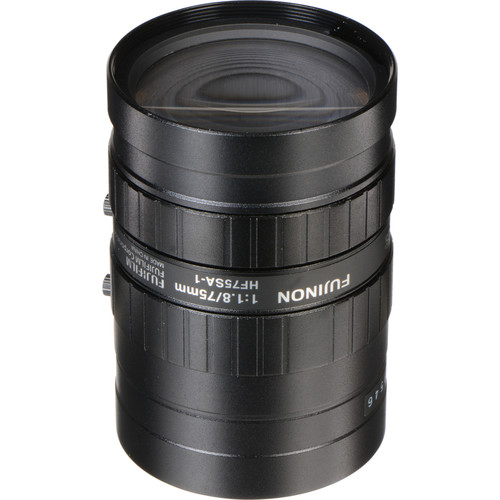 Fujinon HF75SA-1 75mm f/1.8 C-Mount Fixed Focal Lens for 5 Megapixel Cameras