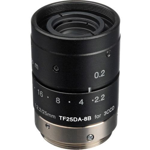 Fujinon TF25DA-8B 25mm f/2.2 C-Mount Lens for Machine Vision and Industrial Applications