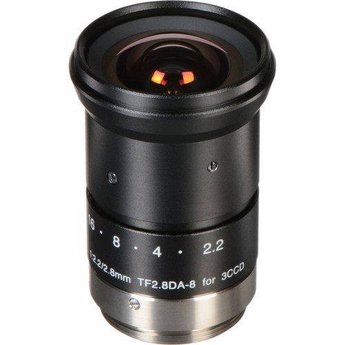 Fujinon TF2.8DA-8 1/3-Inch CCD 2.8mm, f/2.2 Fixed Focal Length Manual Iris C-Mount Lens for Machine Vision and Robotics