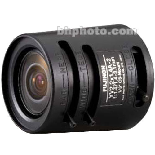 "Fujinon YV2.2x1.4A-2 1/3"" 1.4-3.1mm CS-Mount Fish-Eye Zoom Lens"