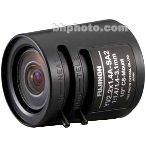Fujinon YV2.2x1.4A-SA2 1.4-3.1mm Fish-Eye Varifocal Lens (Long Cable)