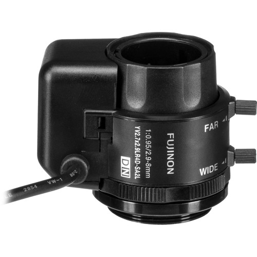 "Fujinon 1/3"" CS Mount 2.9-8mm f/0.95 Auto Iris Lens with Long Cable"