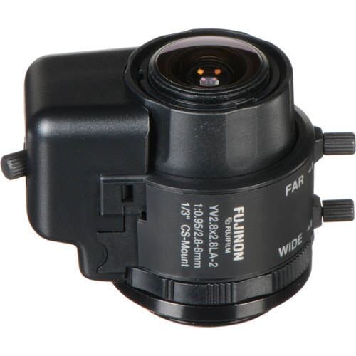 "Fujinon YV2.8x2.8LA-2 1/3"" CS Mount 2.8-8mm f/0.95 Manual Iris Lens"
