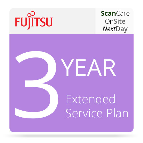 Fujitsu 3 Year ScanCare Extended Service On-Site Next Business Day