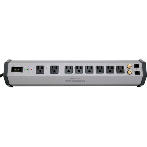 Furman PST-8 Power Station Home Theater Power Conditioner & Surge Protector - 8 Outlets, 2 Coax Pairs & Phone Line Protection