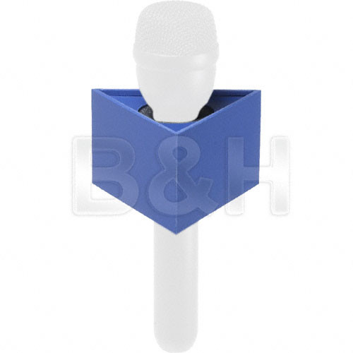 "GB Mic Flag Triangle Microphone Flag - 2.25 x 3.75"" - Blue"
