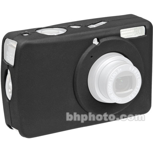 GGI Silicone Skin - for Canon PowerShot SD630 Digital Elph Camera (Black)