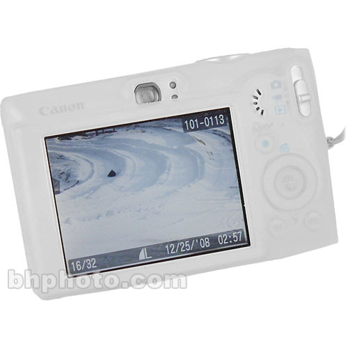 GGI Silicone Skin - for Canon PowerShot SD600 Digital Elph Camera (Clear)