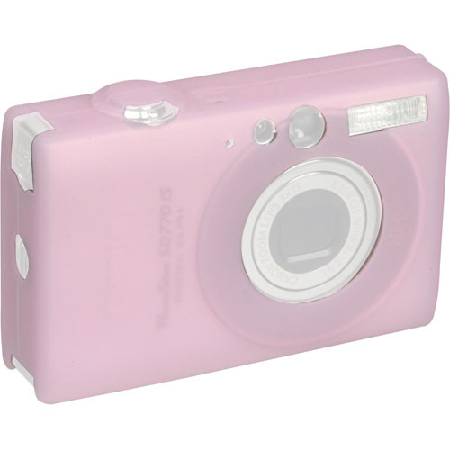 GGI Silicone Skin - for Canon PowerShot SD770 IS Digital Elph Camera (Light Pink)
