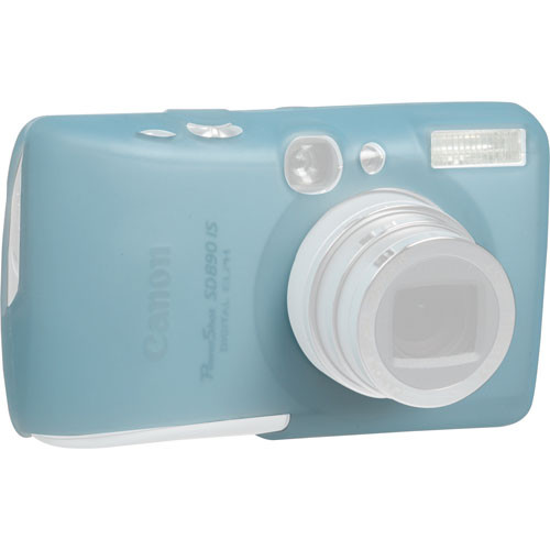 GGI Silicone Skin - for Canon PowerShot SD890 IS Digital Elph Camera (Light Blue)