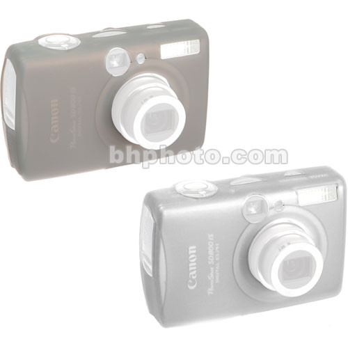GGI Silicone Skins - for Canon PowerShot SD800 IS Digital Elph (Clear and Gray)