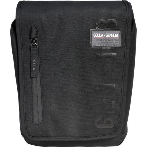 GOLLA Camera Bag M, Don Shoulder Bag (Black with Dark Gray Lining)