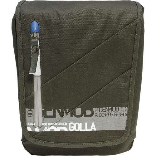 GOLLA Camera Bag M, Carol Shoulder Bag (Army Green with Blue Lining)