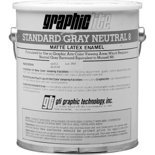 GTI Standard Gray Neutral 8 Vinyl Latex Paint - 1.0 Gallon