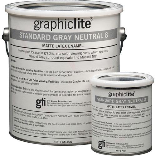 GTI Standard Gray Neutral 8 Vinyl Latex Paint - 1.0 Pint