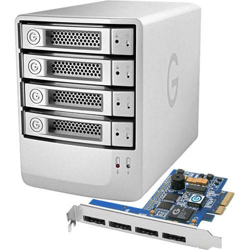 G-Technology 4TB G-SPEED eS 4-BAY RAID Array w/ 4x 1TB Drives and PCIe Controller