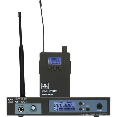 Galaxy Audio AS-1100 Personal Wireless Stage Monitoring System (655 to 679 MHz)