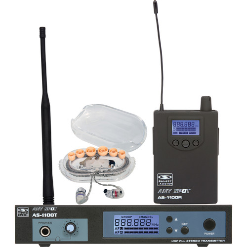 Galaxy Audio AS-1106 Personal Stage Monitoring System with EB6 Ear Phones