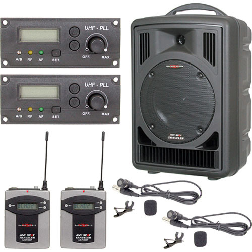 Galaxy Audio AS-TV82V Any Spot Traveler with Two Lavaliers and Body Packs
