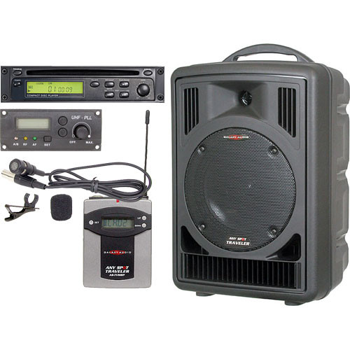 Galaxy Audio AS-TV8C1V Any Spot Traveler Portable PA with CD Player and Lav System