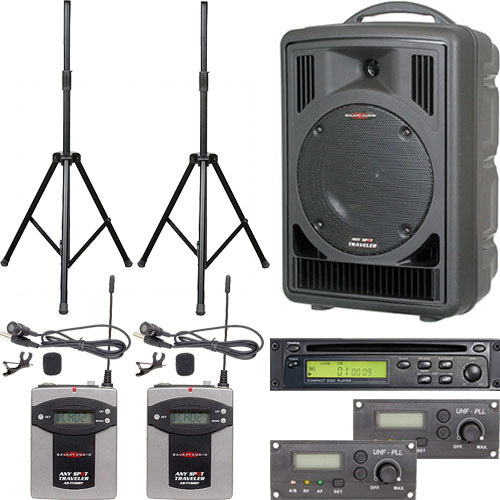 Galaxy Audio ASTV8C2VP Any Spot Traveler Portable PA