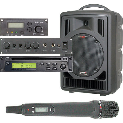 Galaxy Audio AS-TV8CE1H Any Spot Traveler PA with CD Player, Echo System, and Handheld Mic