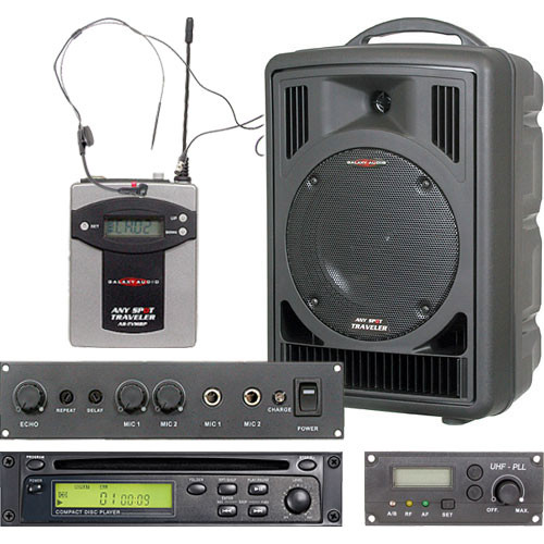 Galaxy Audio AS-TV8CE1S Traveler with CD Player, Echo System, and Headset Mic
