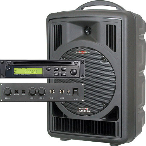 Galaxy Audio AS-TV8CE Any Spot Traveler Portable PA with CD Player and Echo System