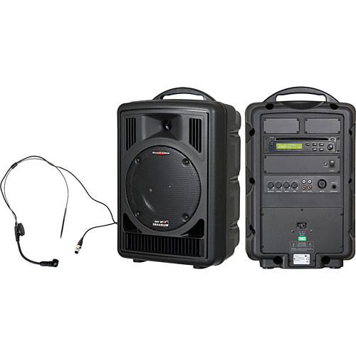 Galaxy Audio AS-TV8CS Any Spot Traveler PA with CD Player and Headset Microphone