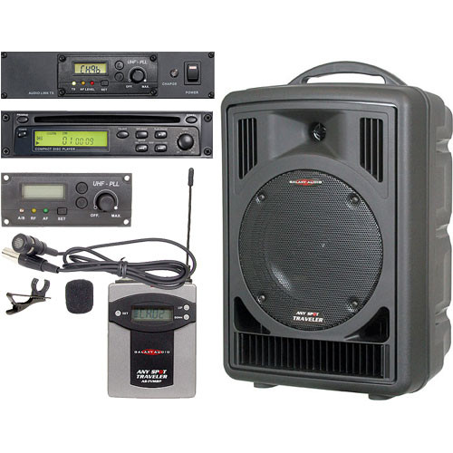 Galaxy Audio AS-TV8CT1V Any Spot Traveler with CD Player, Audio Link and Lav