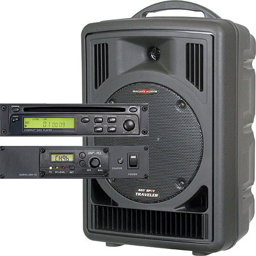 Galaxy Audio AS-TV8CT Any Spot Traveler with CD Player and Audio Link System