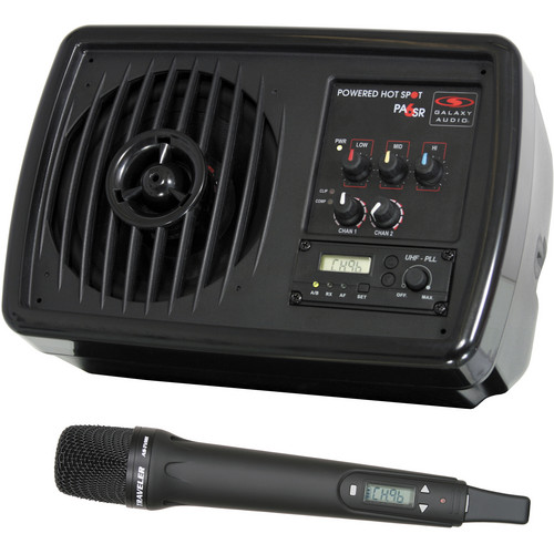 Galaxy Audio PA6SR Powered Hot Spot Personal PA & Wireless Microphone System