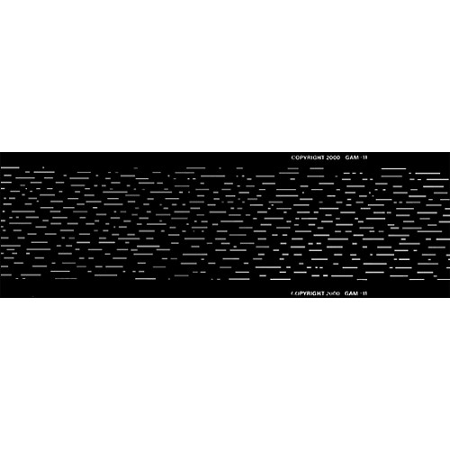 Gam Heavy Rain Pattern FX/Loop for Film/FX Gobo Rotator