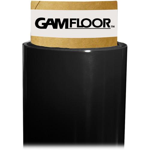 """Gam GamFloor Roll (48"""" x 50' / 1.2 x 15.2 m), (Gloss Soft Black)"""