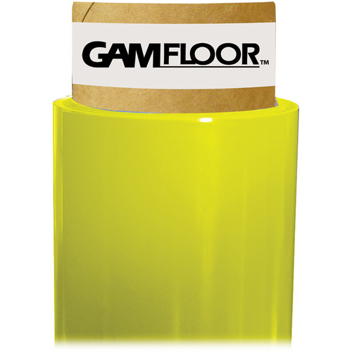"Gam GamFloor Roll (48"" x 50' / 1.2 x 15.2 m), (Gloss Bright Yellow)"