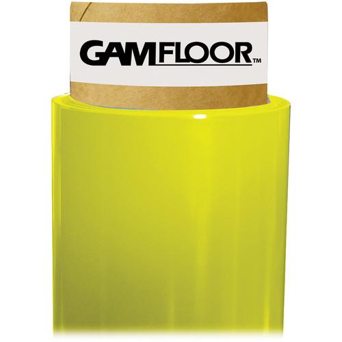 """Gam GamFloor Roll (48"""" x 50' / 1.2 x 15.2 m), (Gloss Bright Yellow)"""