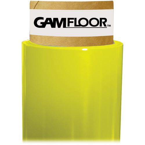 """Gam GamFloor Roll (48"""" x 100' / 1.2 x 30.5 m), (Gloss Bright Yellow)"""